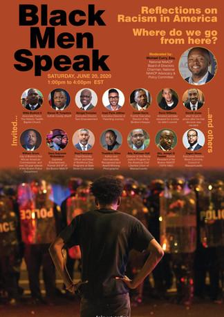 Black Men Speak electronic event promotion