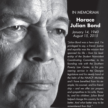 Boston Branch NAACP commemorative ad for the late Julian Bond