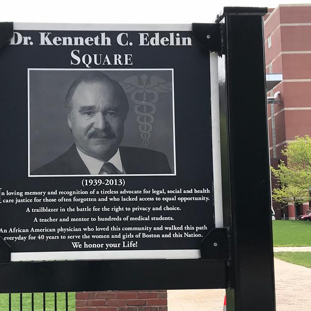 Dr. Kenneth Edelin commemorativesign