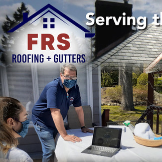Magazine ad design for FRS Roofing and Gutter