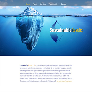 Sustainable Results site home page