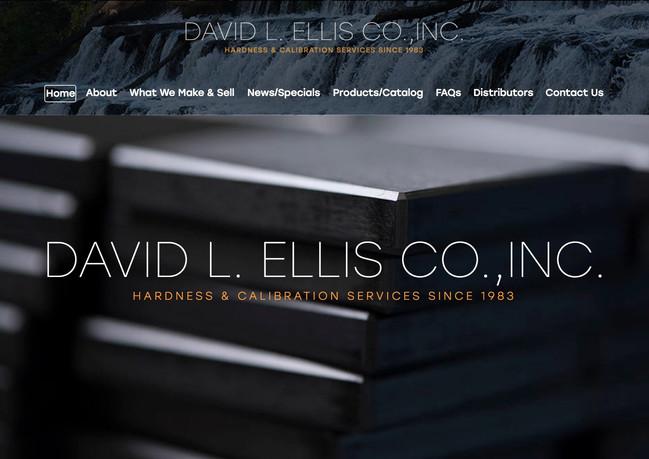 Website design for  David L. Ellis Co., Inc.