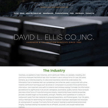 David Ellis Co, Inc. manufactures hardness test blocks developed by people who understand the standards & specifications that have to be met by manufacturers today.