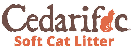 "Logo design ""Cedarific"" soft cat litter product"