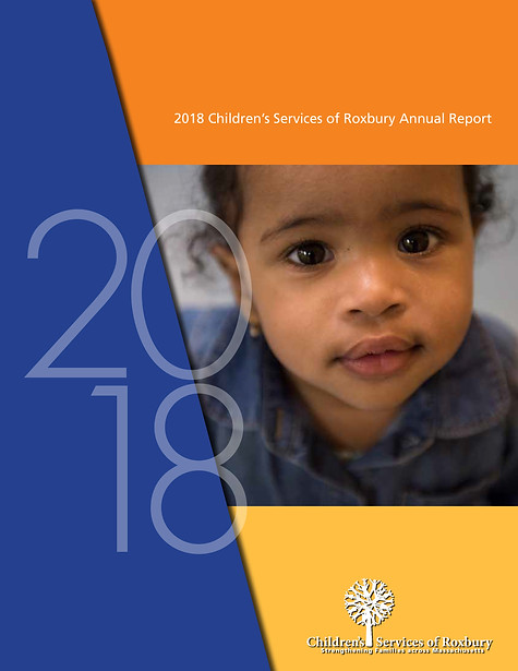 Children's Services of Roxbury Annual report cover