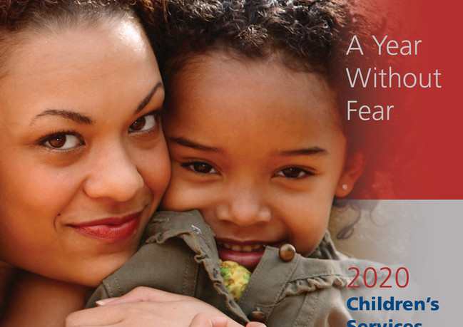 Cover for the '20 Children's Services of Roxbury annual report