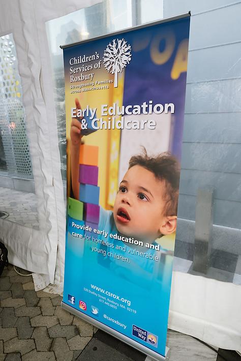Children's Services of Roxbury event retractable banner.