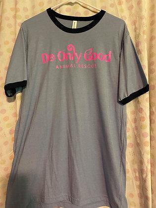 Light Blue Ringer Short Sleeve T-Shirt