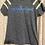 Thumbnail: Dark Grey White Stripes Short Sleeve T-Shirt