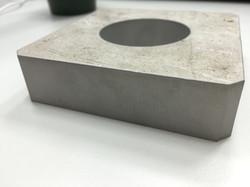水刀切割-25mm鋁-零件側視圖