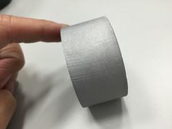 水刀切割-25mm鋁-圓柱側面