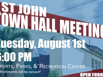 Senator Sarauw Hosts St. John Town Hall
