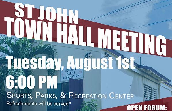 Senator Sarauw Hosts St. John Town Hall