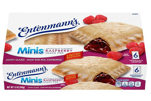 Parve Entenmann's mini Raspberry snack pie