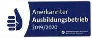 Anerkannter Ausbildungsbetrieb 20192020.