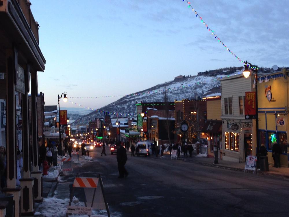 Sundance 2016 Park City UT Main St at Dusk