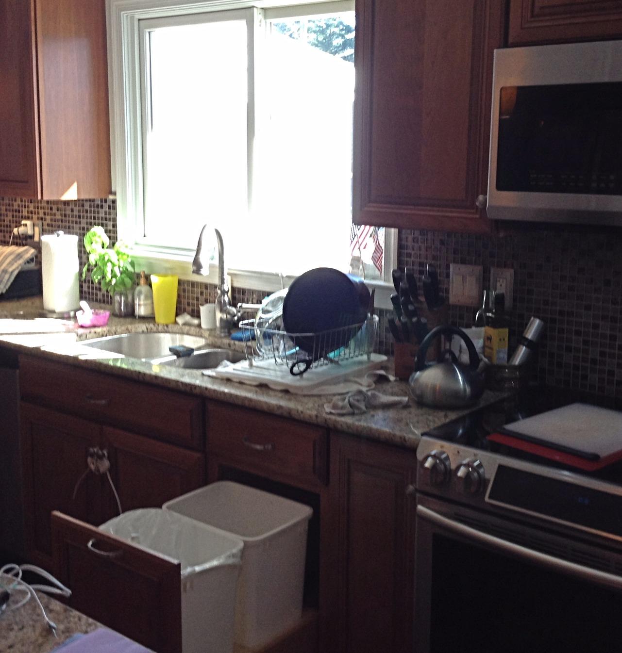 Kitchen Main Sink Area Before