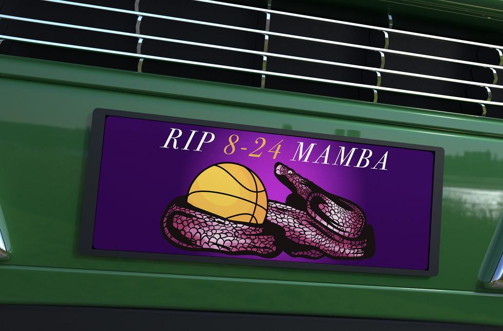 Kobe Bryant License Plate