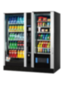 Vendo double combination snack and drink vending machine
