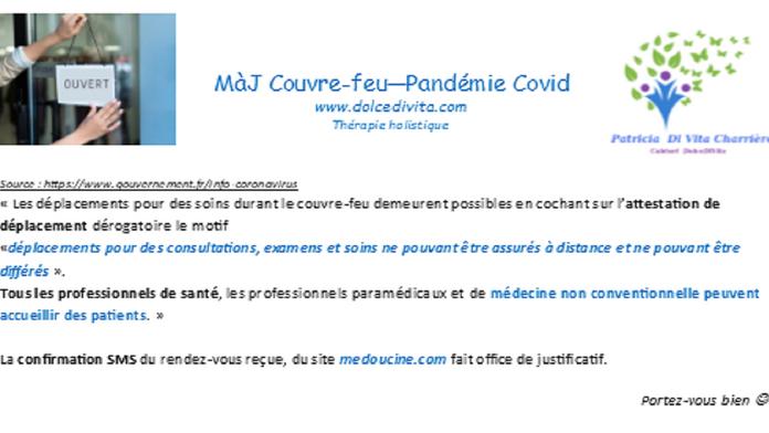MàJ Covid - Couvre-feu