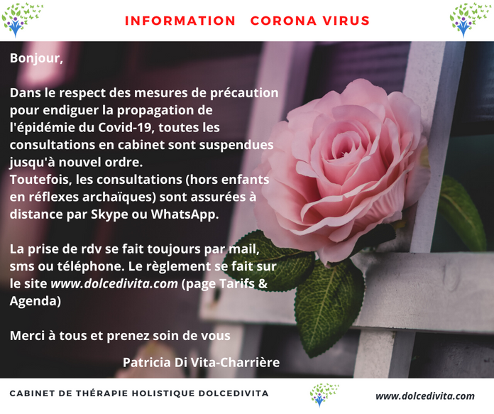 Corona Virus & Activité du cabinet