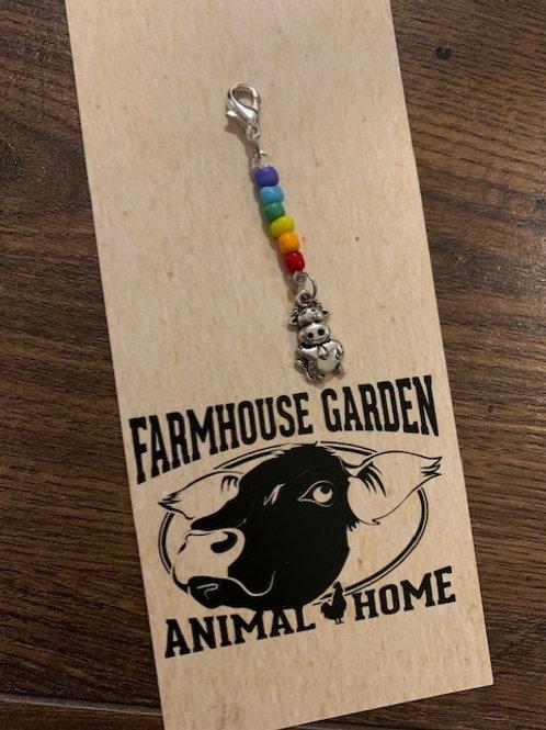 Rainbow Cow Charm