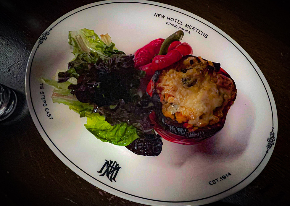 Ratitoulle Stuffed Red Pepper