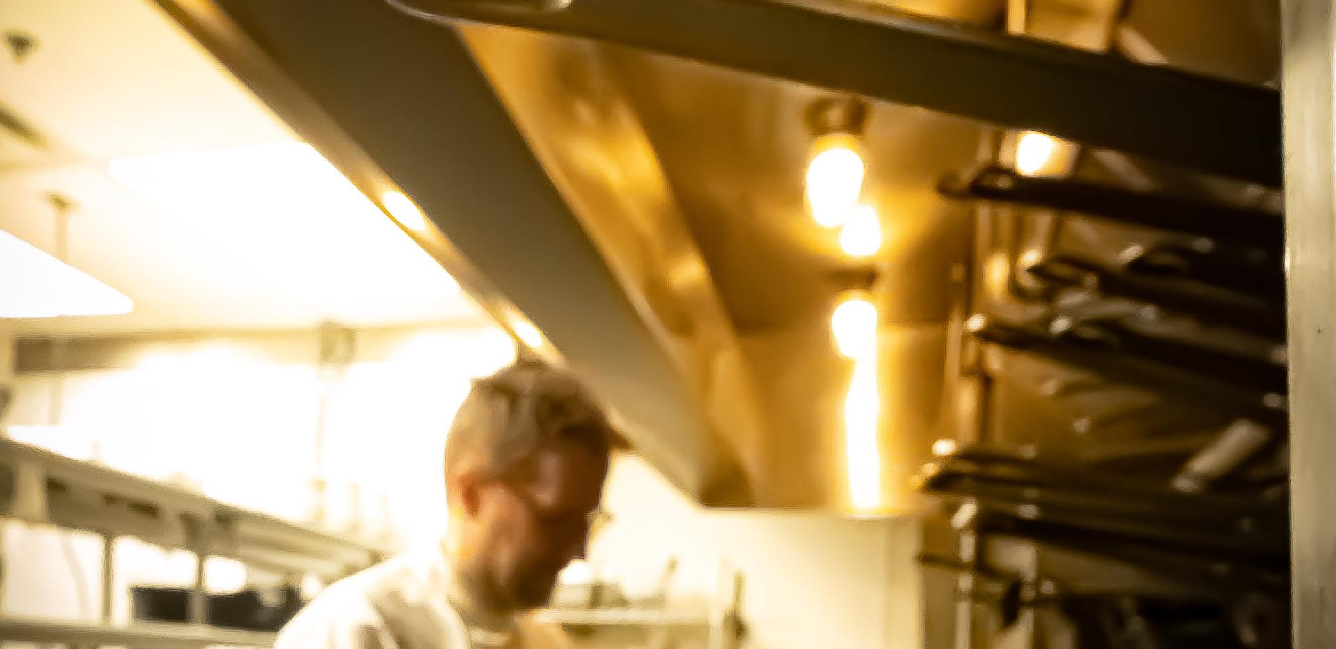 Mr. Berglund in the Mertens Kitchen