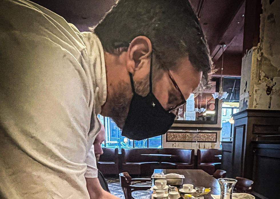 Chef Berglund Opening Michigan Mushrooms En Papiollote