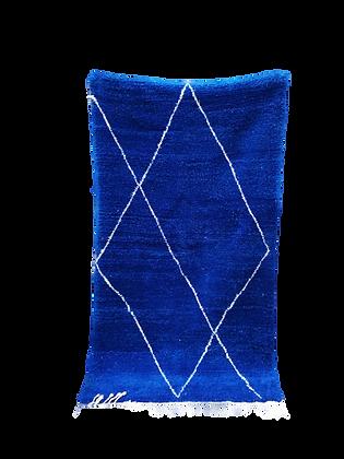 R16- 6.5x3.6ft Blue Majorelle Moroccan Rug