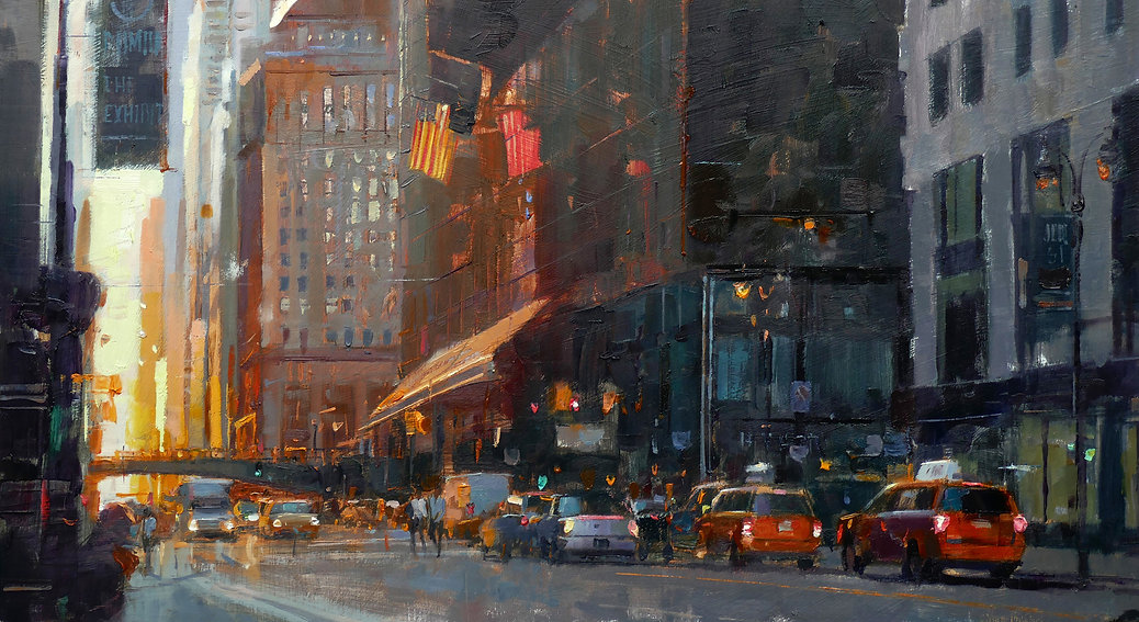 Douglas-Gray-Artist-The-Hyatt-Hotel-New- Cityscape paintings