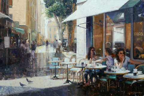 Ladies-at-Lunch by Douglas Gray-Artist