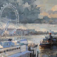 Sun and rain on the Thames
