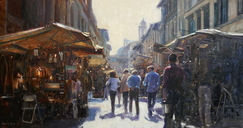 Artists stall,Florence Douglas Gray Figurative Artist Paintings