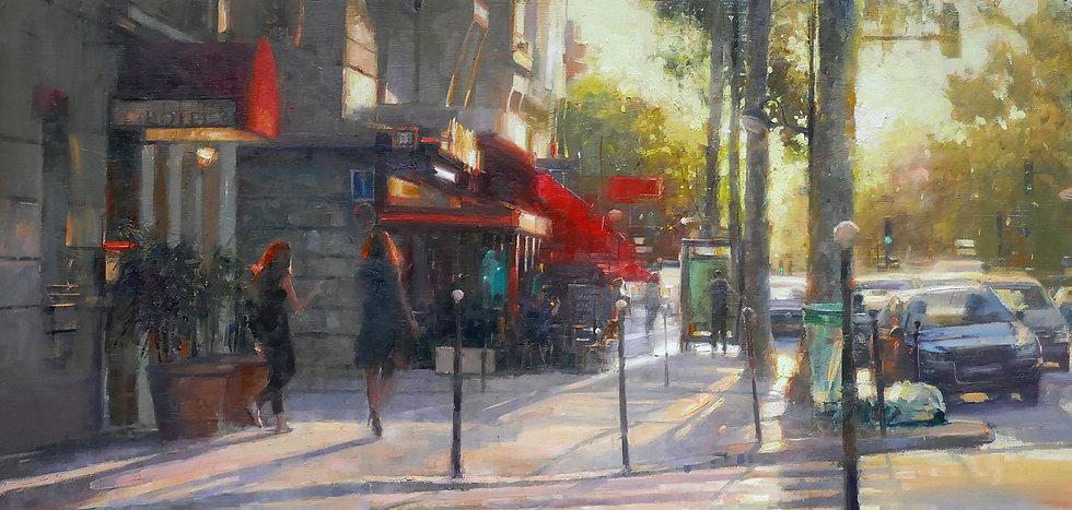 'Setting Sun on the 17th, Paris'  by Douglas Gray Artist