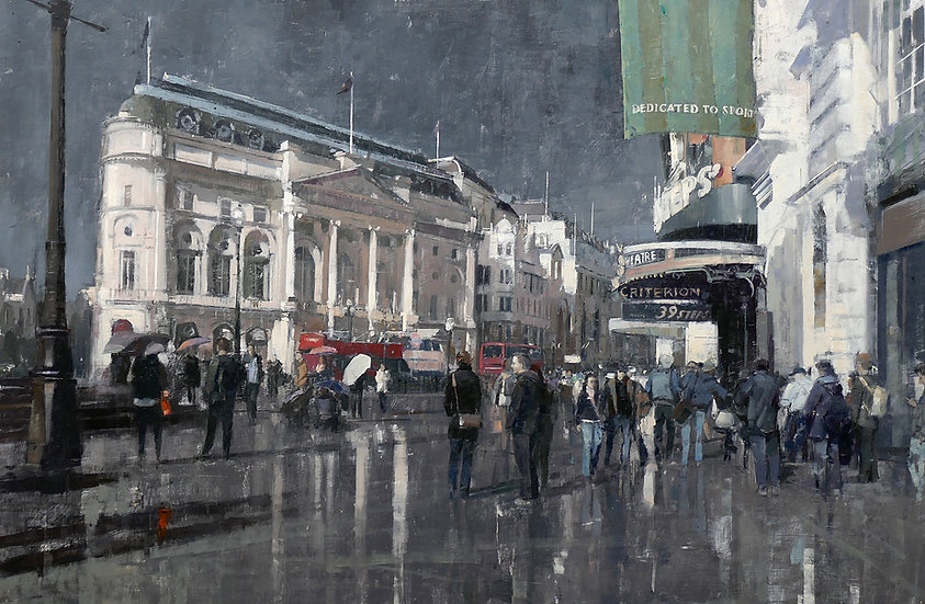 'Sun And Rain Piccadilly, London' by Douglas Gray Artist