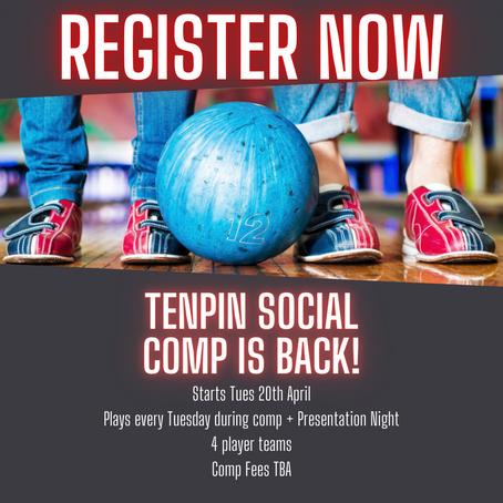 TENPIN SOCIAL COMP - Starts 20th April