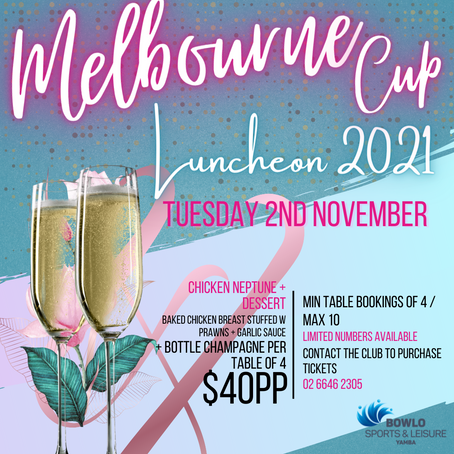 MELBOURNE CUP LUNCHEON - 2nd November