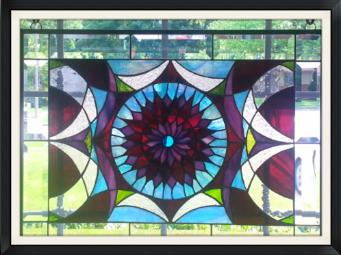 One of a Kind Abstract Sunburst Panel