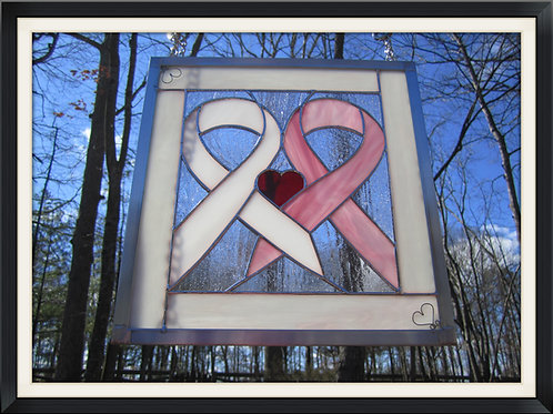 Double Awareness Ribbon in your choice of color