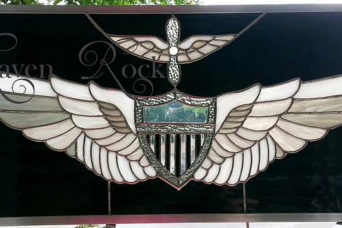 """US Army OR US Navy Aviation Wings 25"""" width x 12"""""""
