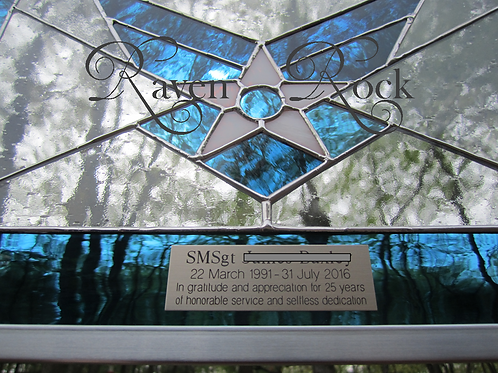 Medium USAF Stained Glass with Engraving