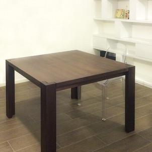 tavolo rovere tinto noce quadrato allungabile