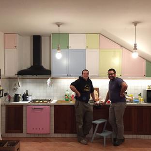 cucina vintage su misura