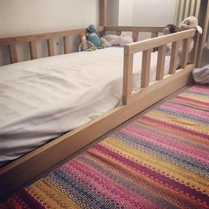 letto montessori legno in rovere massello