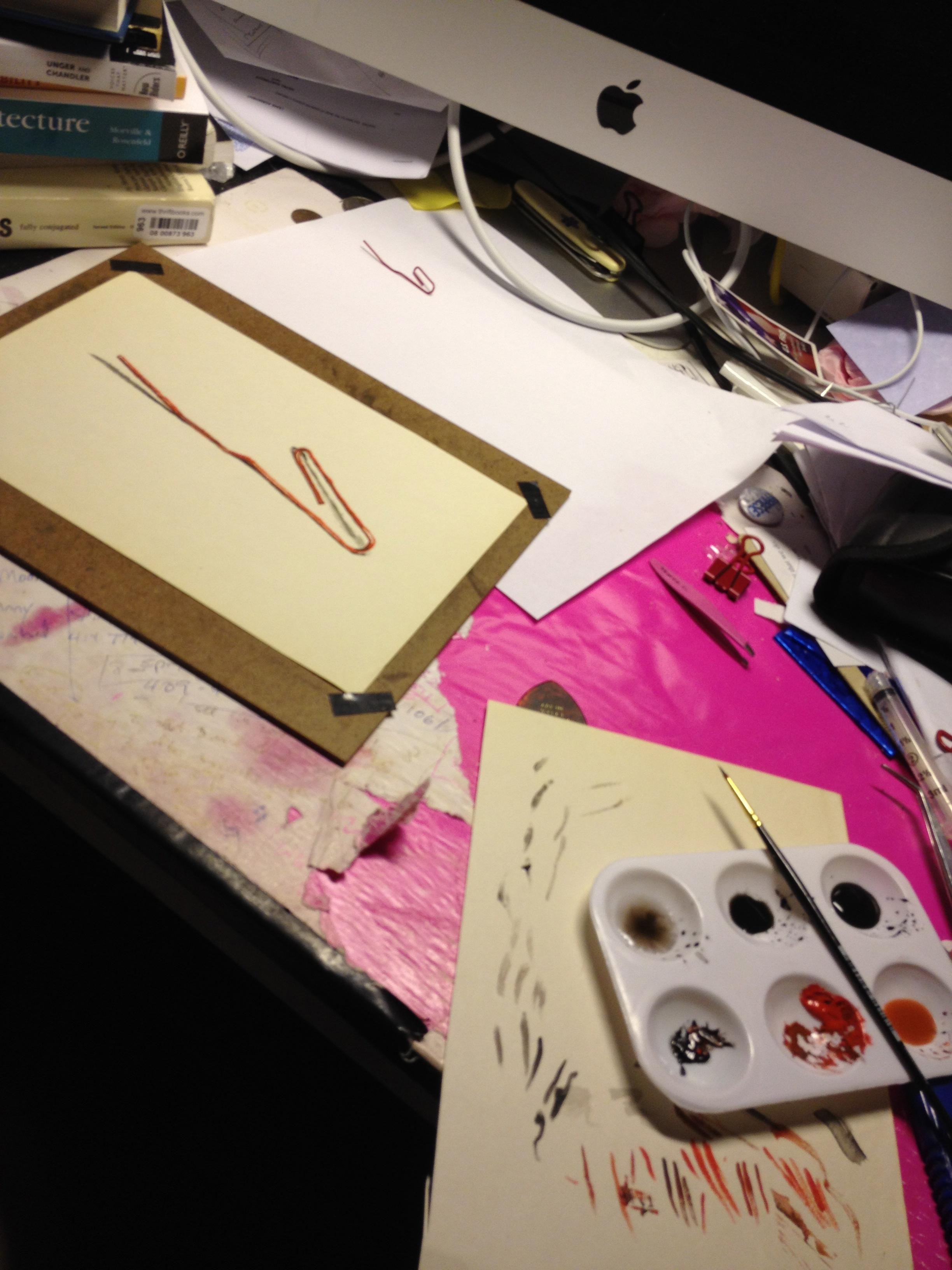 Paper Clip, 2012 (process)