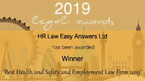 2019 News! We won 'Best Health and Safety and Employment Law Firm 2019'!