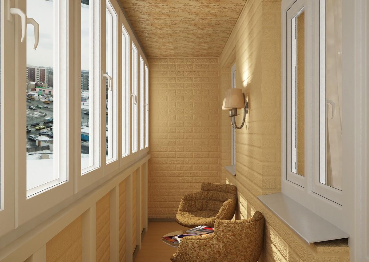 отделка балкона1