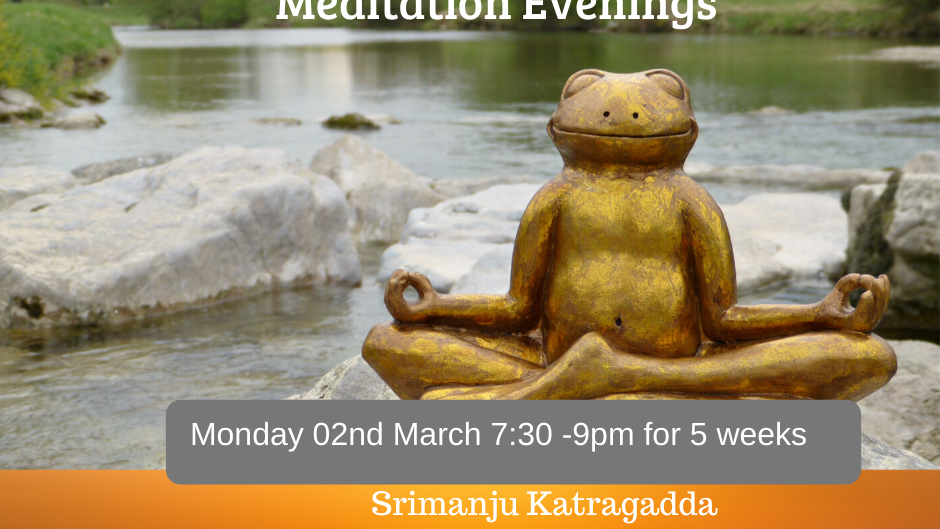 Monday Mindfulness Meditation for Adults - 10 weeks