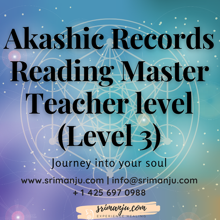 Online Live In Person - Akashic Records Level 3 Master Teacher Level